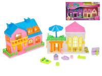 Domček 2 ks 16,5 cm s doplnkami - mix variantov či farieb
