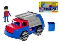Auto nákladné smetiari s panáčikom