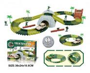 Variabilní dráha s vojáky a tunelem 96 dílů