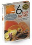 Sviečka čajová - aróma pomaranč a vanilka - 6 ks