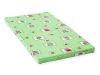Detský matrac 140x70x6 cm, molitan, zelená, Cuculi