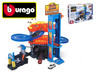 Bburago 1:43 STREET FIRE auto garáž hrací set + 2 ks auto