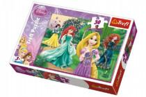 Puzzle Locika, Merida, Ariel a Snehulienka Princezné Disney 27x20cm 30 dielikov