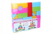 Kocky stavebnice 24ks plast v sáčku