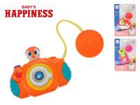 Hudobný nástroj / foťák 10-12 cm na batérie so svetlom a zvukom Baby's Happiness - mix variantov či farieb