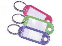 visačka na kľúče 5,5cm plastová, malá ovál s Kr. (50ks) - mix farieb