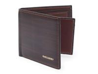 Elegantná tenká pánska peňaženka s kresbou dreva, eko kože, hnedá