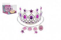 Sada krásy korunka, náušnice, náhrdelník plast karneval