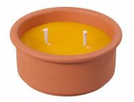 Sviečka citronelou 2 knôty 400g d15x7cm