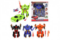 Transformer auto / robot plast 20cm 4 druhy