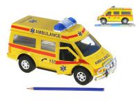 Auto ambulancie 27 cm na zotrvačník