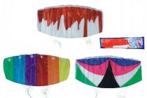 Drak létající padák nylon 120x55cm - mix barev