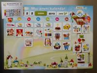 Kalendár magnetický - Škôlka 114ks magnetiek v kartóne