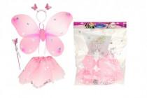 Kostým karnevalový princezná / víla 2 farby v sáčku karneval