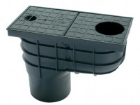 lapač strešných vôd LSV DN 125mm plastový, ČER