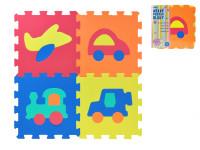 Penové puzzle Dopravné prostriedky 30x30cm