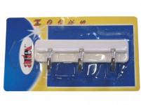 trojháčik samolepiace 10,5cm plastový, bi + Cr