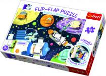 Puzzles 36 dielikov Flip-flap Vesmír