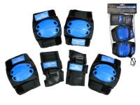 Chrániče väčšie 6 ks modro-čierne