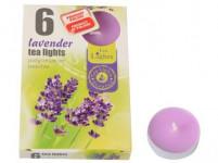 sviečka čajová vonná LEVANDULA (6ks) (horí 6x3-4hod)