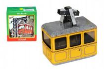 Lanovka žlutá na klíček kov 10x7,5cm v krabičce Kovap