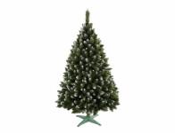 Stromček jedľa umelý vianočný s bielymi konci + stojan 180cm