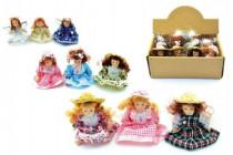 Miniaturní panenka porcelán 8,5cm - mix variant či barev