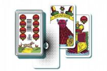 Mariáš jednohlavý spoločenská hra karty v plastovej krabičke