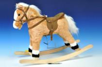 Kůň houpací plyš 60cm na baterie se zvukem nosnost 50kg