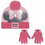 Sada rukavice, čiapka s brmbolcom - Disney Minnie