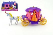 Kôň s kočiarom + bábika plast 40cm