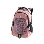 Easy flow 920765 Batoh studentský dvoukomorový růžový, vzor na přední straně, bavlna, 26 l