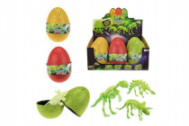 Vajcia dinosaurus svietiace skladačka - mix farieb