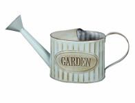 Konvička GARDEN RETRO s kropítkem plechová modrá