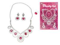 Sada krásy náhrdelník ve tvaru srdce s naušnicemi a prstenem