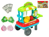 Vozík ovocie / zelenina pojazdný 23x33x20 cm s doplnkami