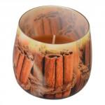 sviečka vonná sklo ŠKORICA 100g (horí 20hod)