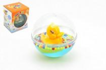 Zvířátko plovoucí v kouli 12cm s vodou pro nejmenší v krabici 12m+ - mix variant či barev