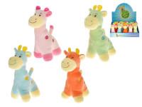 Žirafa plyš 14cm 18ks v dbx 0m+ - mix barev