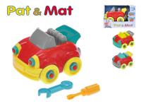 Auto Pat a Mat šroubovací plast 13cm - mix barev