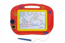 Magnetická tabuľka kresliaci farebná s doplnkami plast