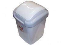 kôš odpadkový výklopný STANDARD 15l štvorcový, hladké veko plastový, ŠE tm.
