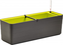 Plastia truhlík samozavlažovací Berberis - antracit + zelená 80 cm