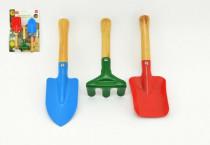 Zahradní nářadí dřevo/kov 15-22cm