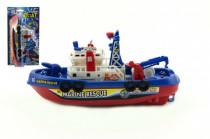 Loď / Čln plast 25cm na batérie striekacie vodu