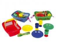 Piknikový set mini v košíku - mix variantov či farieb
