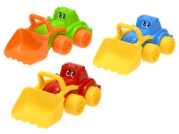 Traktor veselý s nakladačom 26 cm - mix farieb