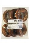 Pochoutka Donut z buvolí kůže s kuřecími játry 6ks