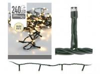osvetlenie vianočné 18m 240LED teplá bi vonkajšie