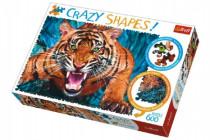 Puzzle Tvárou v Tvár Tigrovi 600 dielikov Crazy Shapes 68x48cm